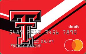 Texas Tech Red Raiders Fancard Prepaid Mastercard